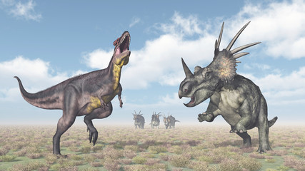 Tyrannotitan and Styracosaurus
