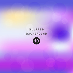 Colorful smooth gradient color blur Background Wallpaper, Vector illustration blurred