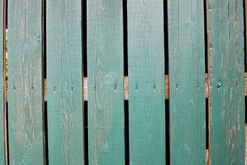 green wooden slats