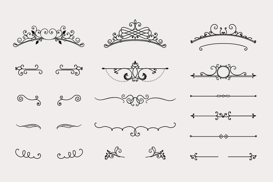 Set of headers and border elements