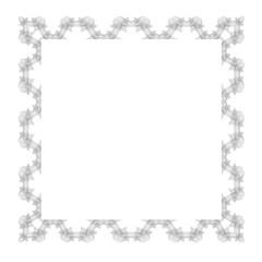 Vintage Retro Square Frame Isolated on White Background