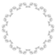 Retro Round Frame Isolated on White Background