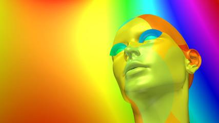 Digitale Kunst – Kopf einer Frau