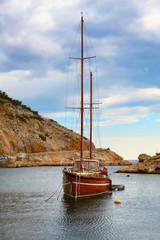Boat in Jablanac fishing harbour