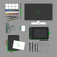 Design set. Vector illustration