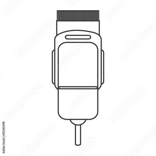 """""""simple flat design electric hair clipper icon vector ..."""