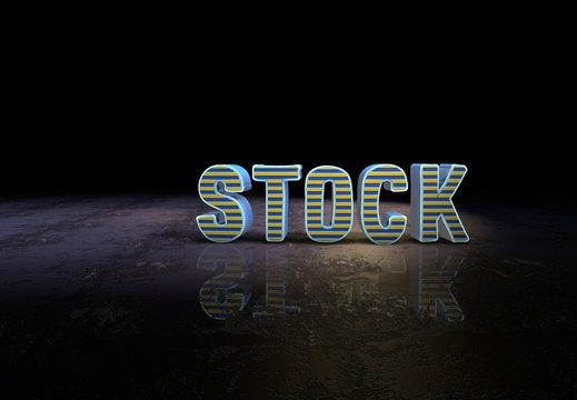 Stock, Slogan, 3D Typography