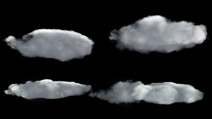 flat cloud texture render