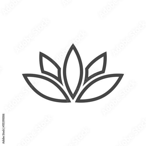 quotsimple lotus plant lotus silhouette iconquot stock image