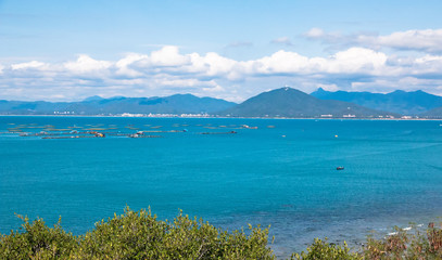 coast view from West Island in Sanya city, Hainan province, China