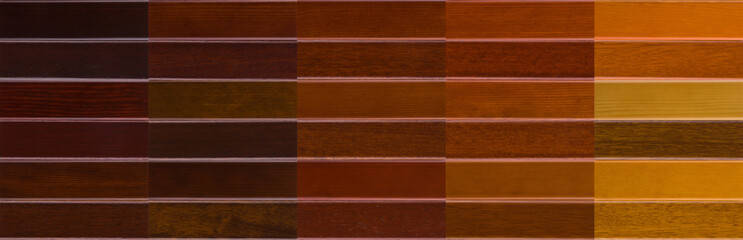 Many colours of wood