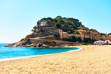 Tossa de Mar Castle. Costa Brava, Spain