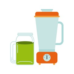 Detox and blender icon. Organic food design. Vector graphic