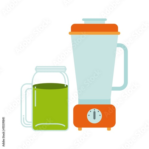 quotdetox and blender icon organic food design vector