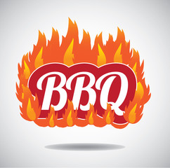 Barbecue design element. EPS 10 vector