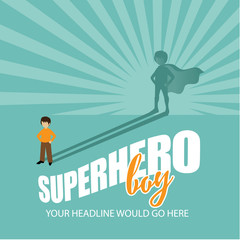 Superhero boy burst background EPS 10 vector