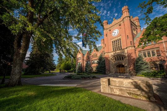 Beautiful brick university administration building