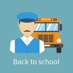 Driver of school bus.