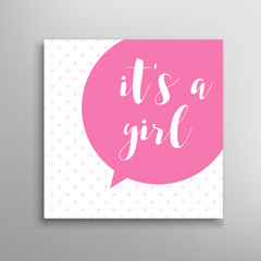 Its a girl lettering