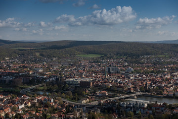 City Hamelin from aerial viewpoint ,Germany