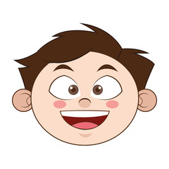 flat design young boy icon vector illustration
