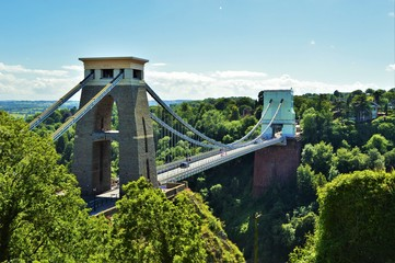 Beautiful image of Clifton Suspension Bridge in Bristol, England on a fabulous day.