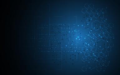 scientific molecular structure design tech innovation sci fi concept background