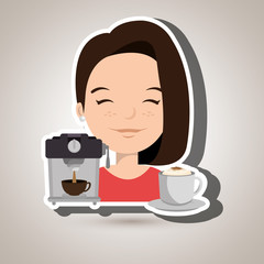 people and coffee icon design, vector illustration graphic
