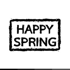 HAPPY Spring typography Illustration design