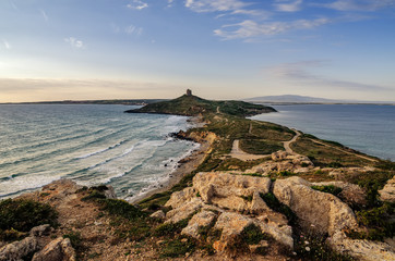 Sardinia, Italy: San Giovanni di Sinis in sunset