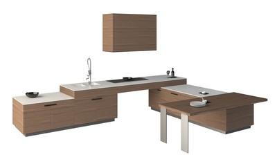 3D Illustration Kitchen Furniture