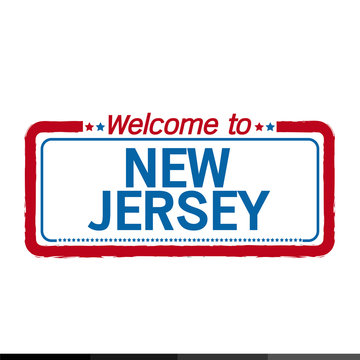 Welcome to NEW JERSEY of US State illustration design