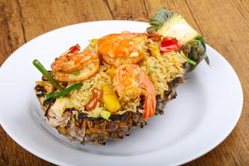 Rice with prawn
