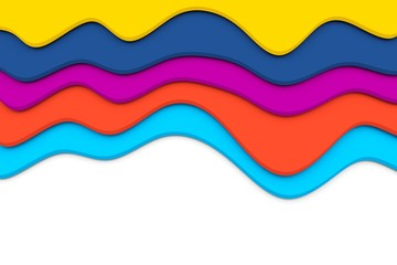 colorful waves with place for text 3D illustration
