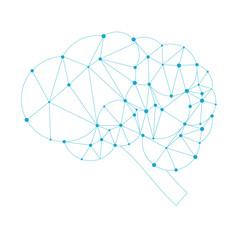 Cloud brain concept polygon style, vector