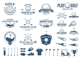 Golf club logo, labels, icons and design element