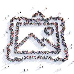 people photograph shape icon 3d