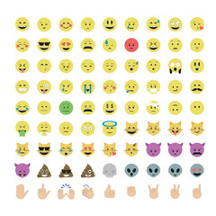 Set of  emoticon vector isolated on white background. Emoji vector. Smile icon set. Emoticon icon web.