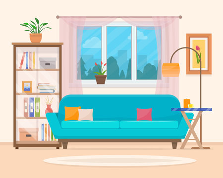 Living room with furniture.