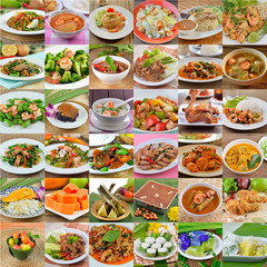 Variety of  Dellicious Thai Food