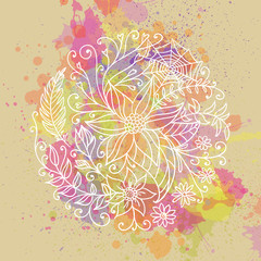Vector Illustration of an Abstract Ornamental Circle. Zendala