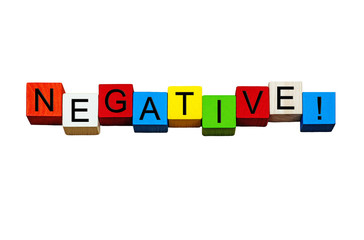 Negative - business word / sign / concept - for business themes,
