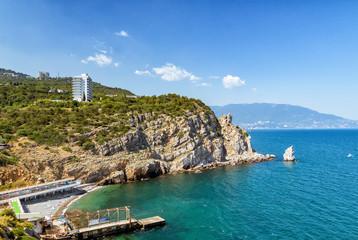 бухта замка Ласточкино гнездо, полуостров Крым, Черное море,