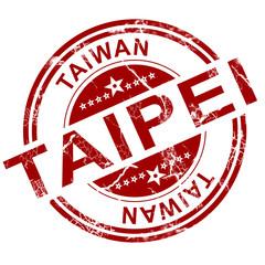 Red Taipei stamp