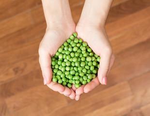 Heart shape from peas