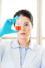 female scientist Braving new medical frontiers bottle