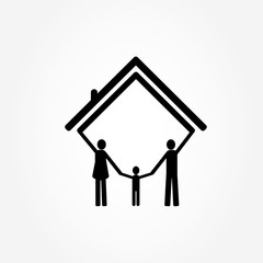 family and home, vector illustration