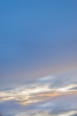 beautiful blurred Sunset Sky Background with copy space