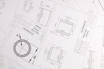 Mechanics engineering drawings.