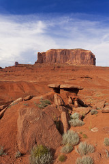 Huge rock formation in Monument Valley national park, USA